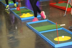 Crazy golf hire fun day